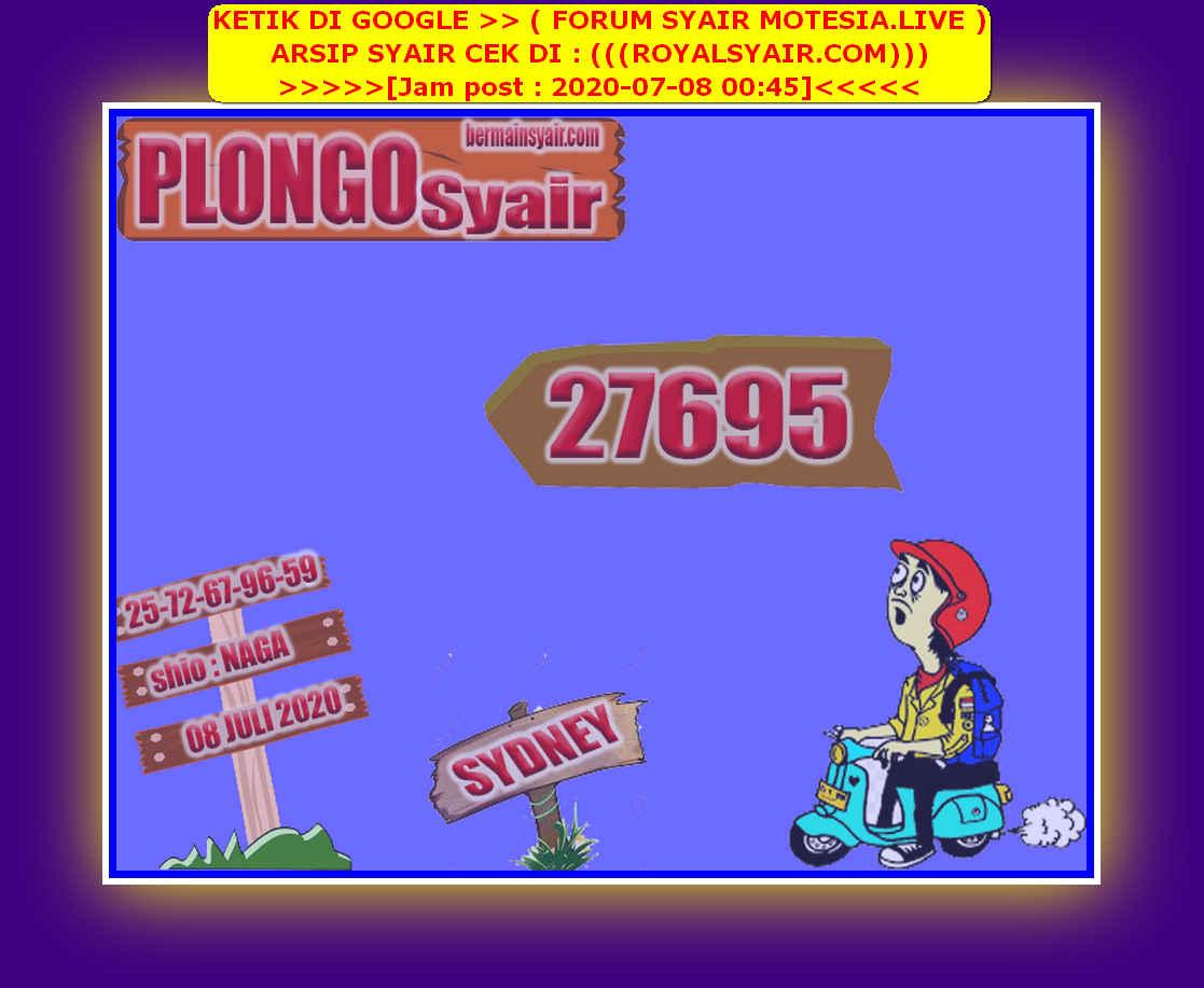 Kode syair Sydney Rabu 8 Juli 2020 207