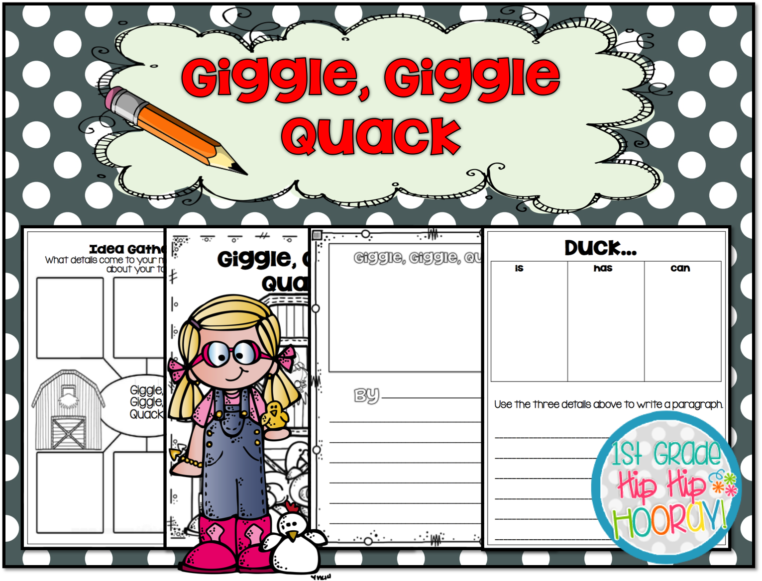 1st Grade Hip Hip Hooray Giggle Giggle Quack By Doreen