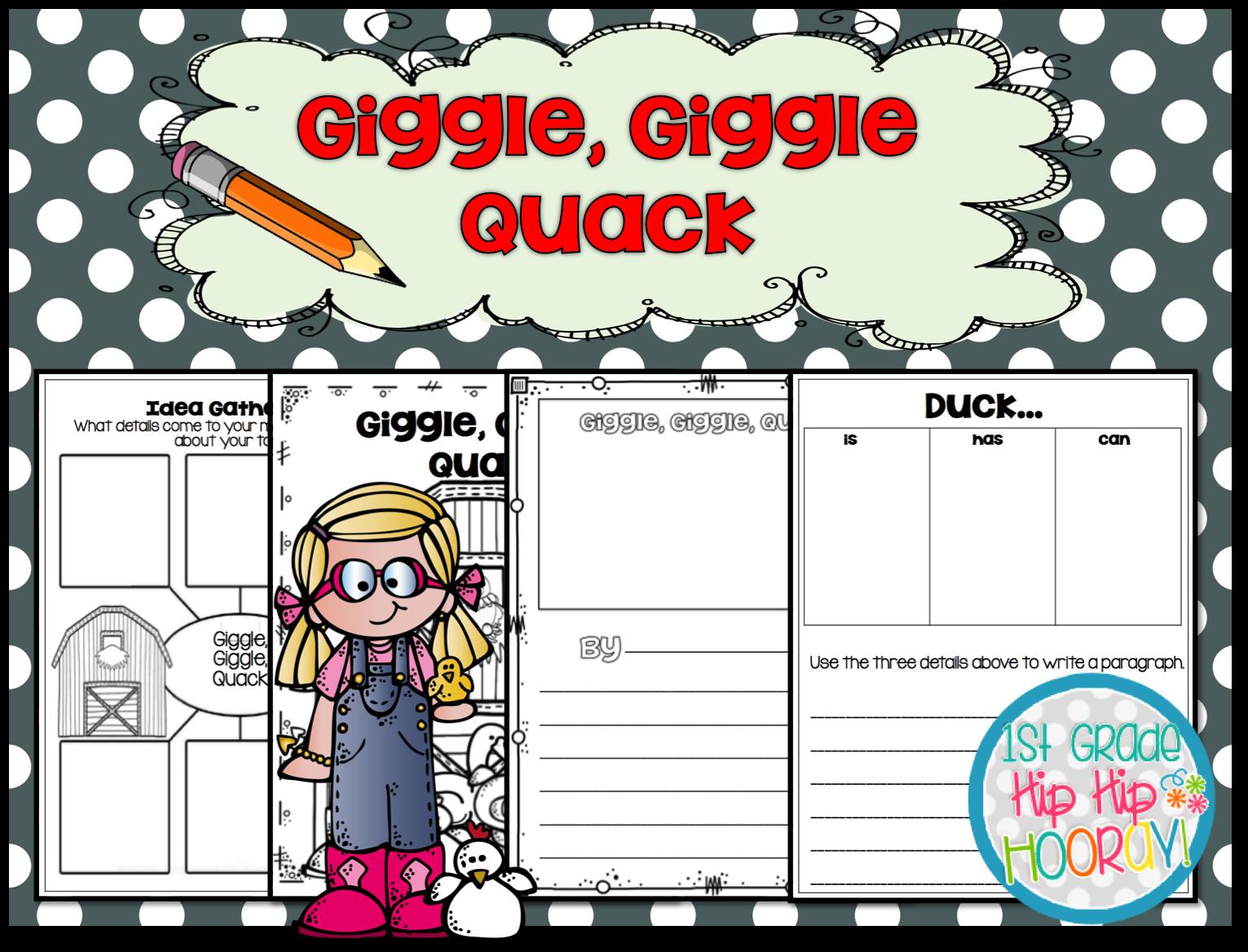 1st Grade Hip Hip Hooray Giggle Giggle Quack By Doreen