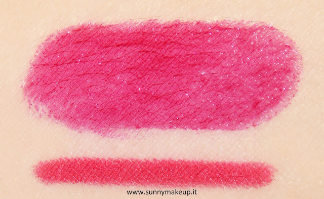 Swatch Pupa - Kit Miss Pupa. 307 – Miss Pupa Cherry Violet + True Lips 32.