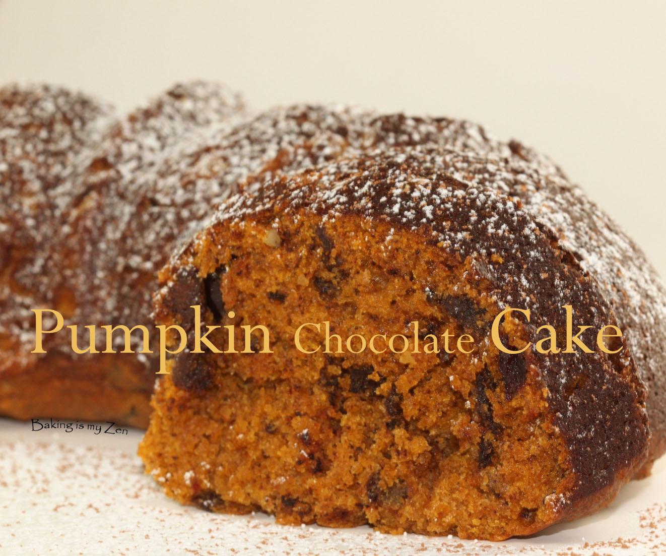 pumpkin chocolate cake recipe dishmaps