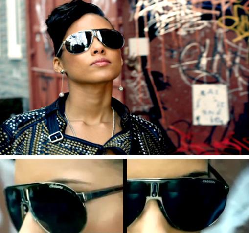 478b9c92fe329 Parece que a marca de óculos Carrera esta sendo escolhida por muitos  artistas para protagonizarem seus clipes, a artista da vez foi Alicia Keys  usando o ...