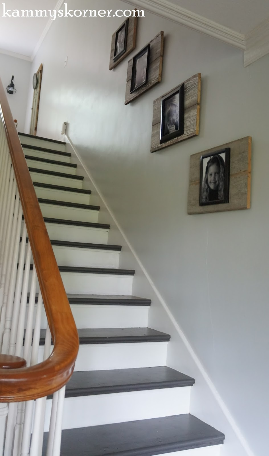 Kammy's Korner: Painting The Stairs With DIY Chalk Paint