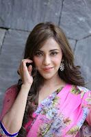 Angela Krislinzki Rogue Movie Fame Telugu Actress in Saree Backless Choli 124.JPG