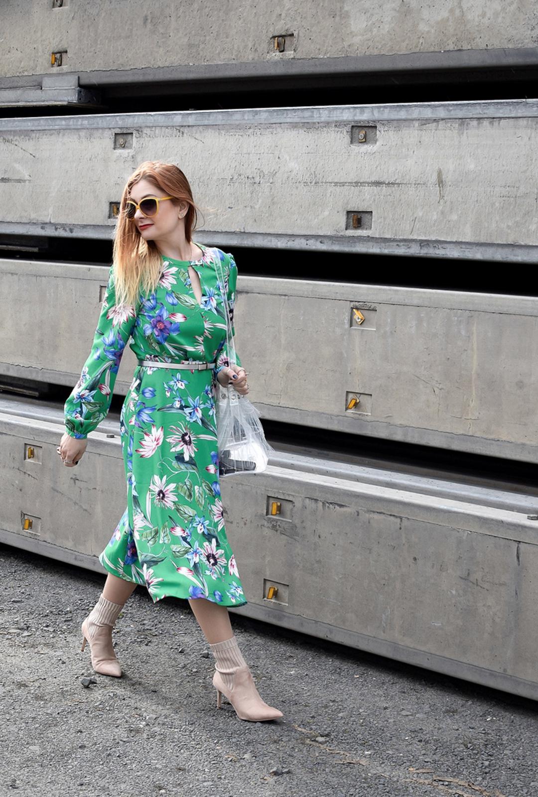 grünes Sommerkleid von H&M, wie kombiniere ich grün, Modeblog für Ü40 Frauen