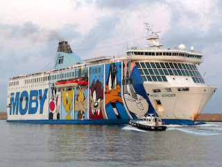 Ferry Moby Wonder, IMO 9214367, port of Livorno