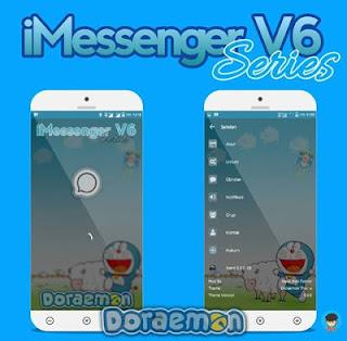 BBM MOD iMessenger V6 Series Doraemon Theme Apk