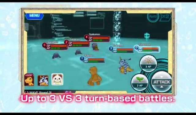 First screenshot from Digimon Linkz English Trailer