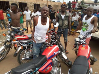 Notorious Robbers Who Specialize in Robbing Victims Using Motorcycles Arrested in Imo State (Photos)