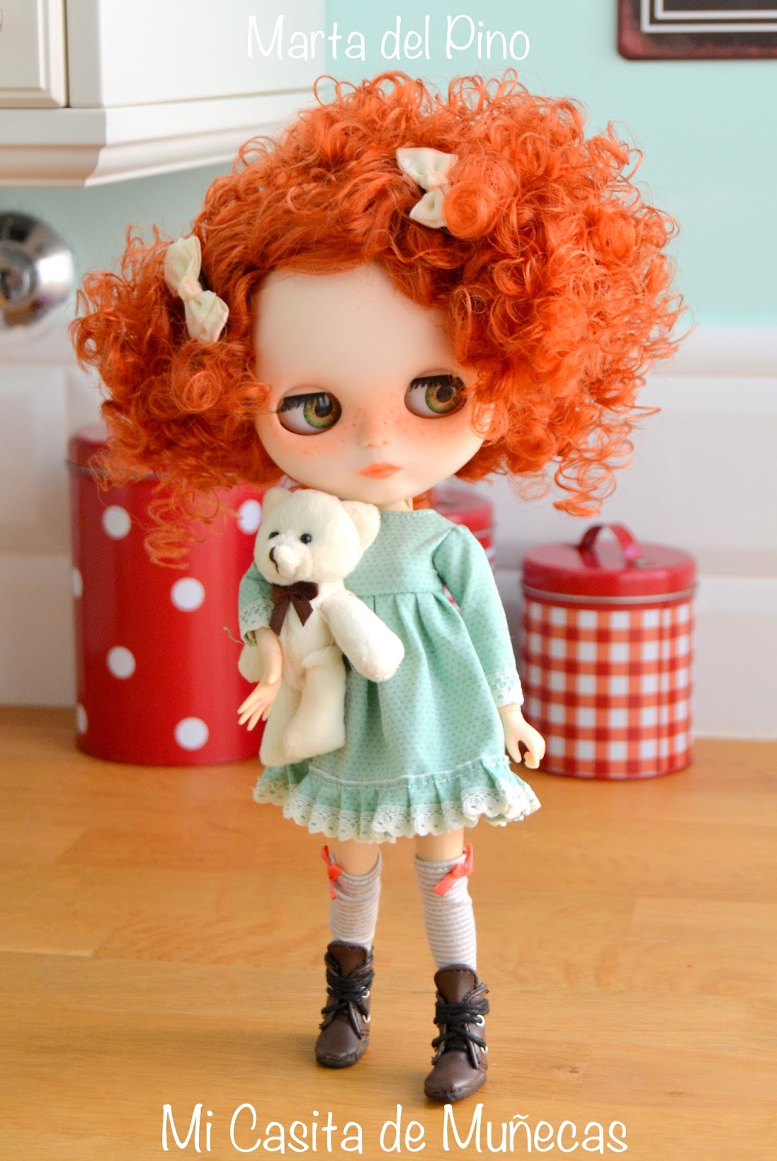 Blythe, blythe custom, customizada, ojos durmientes, ojos realistas, marta del pino, mi casita de muñecas