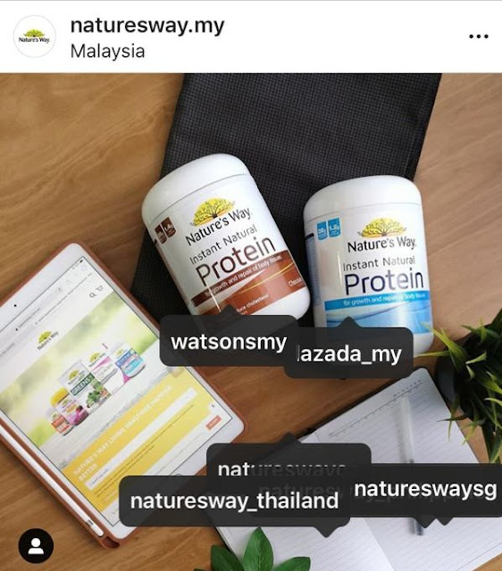Nature's Way tagging on Instagram