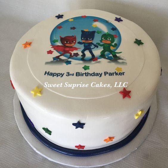 Bolo PJ Masks Sweet Suprise Cakes