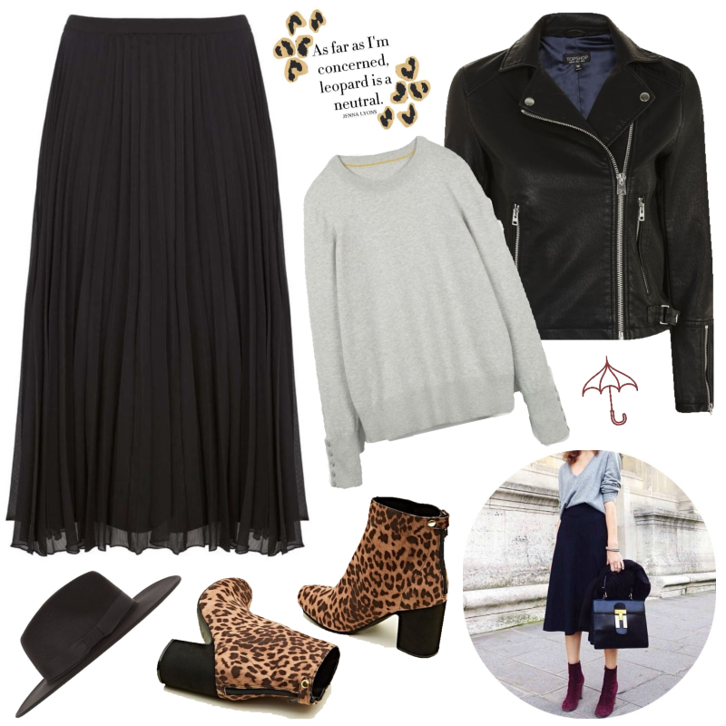 Three ways to wear - the pleated midi skirt | Autumnal layers