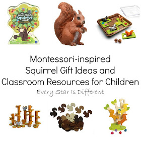 Montessori-inspired Squirrel Gift Ideas and Classroom Resources for Children