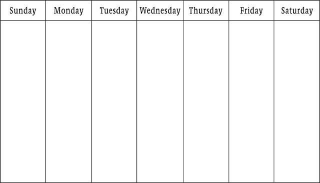 November 2016 Weekly Calendar, November Weekly Calendar 2016, 2016 November Weekly Calendar, Free November Weekly Calendar