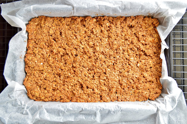 Baked Gluten Free Almond Flapjacks
