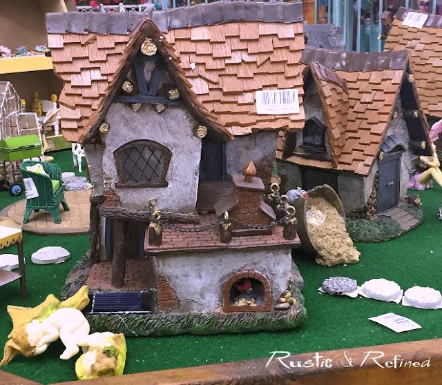 Cottage style fairy garden house