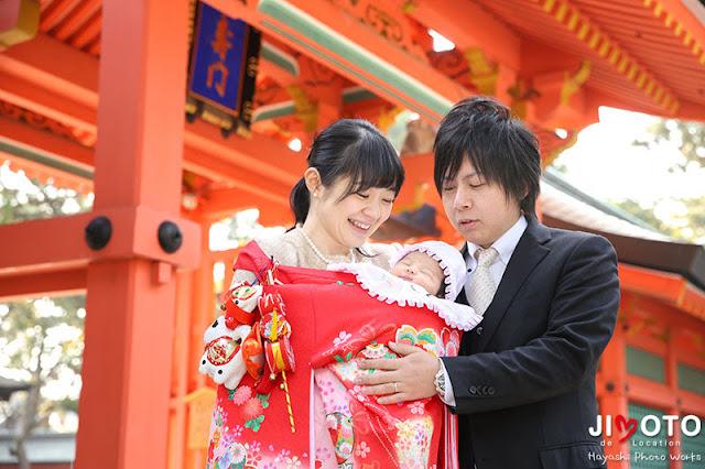 大阪の神社でお宮参り出張撮影