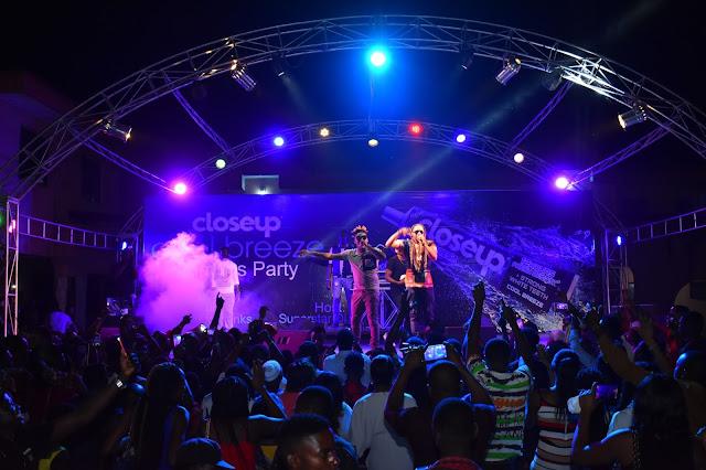 Reekado Banks, L.A.X, Humble Smith light up Benin at the Closeup Cool Breeze party