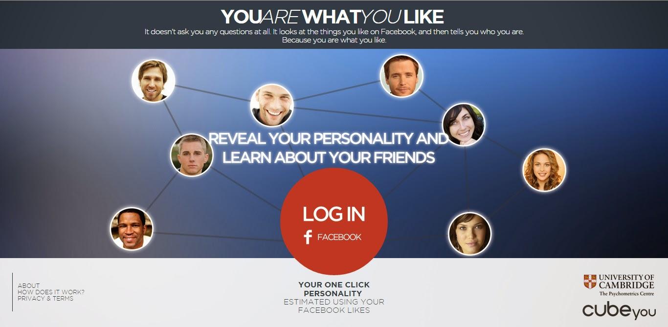 حلل واختبر شخصيتك من خلال الفيس بوك