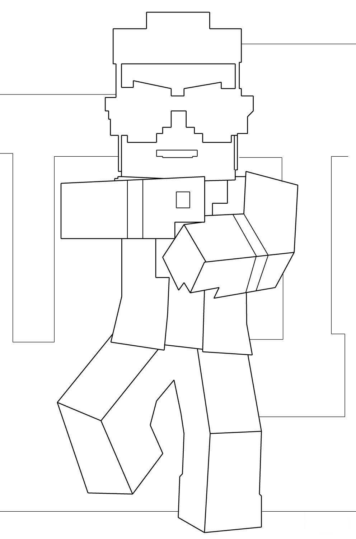 Disegni Da Colorare E Stampare Skin Minecraft Coloradisegni