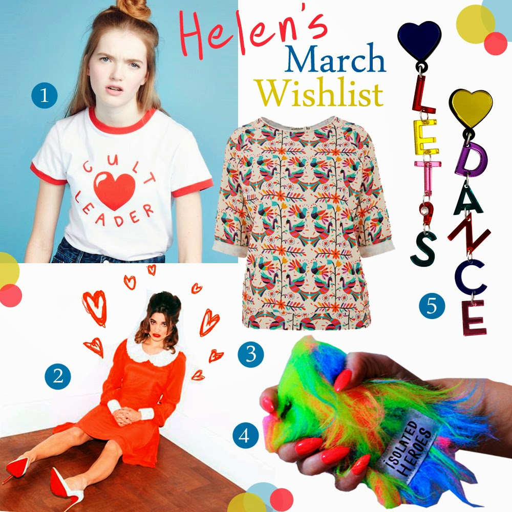 Wishlist, Currently coveting, spring style, Scottish Bloggers, Lazy Oaf Cult Leader, Coco Fennell dress, Brat & Susie sweater, Isolated Herios Cyber Barbie Phonecase, Jennifer Loiselle Let's Dance earrings