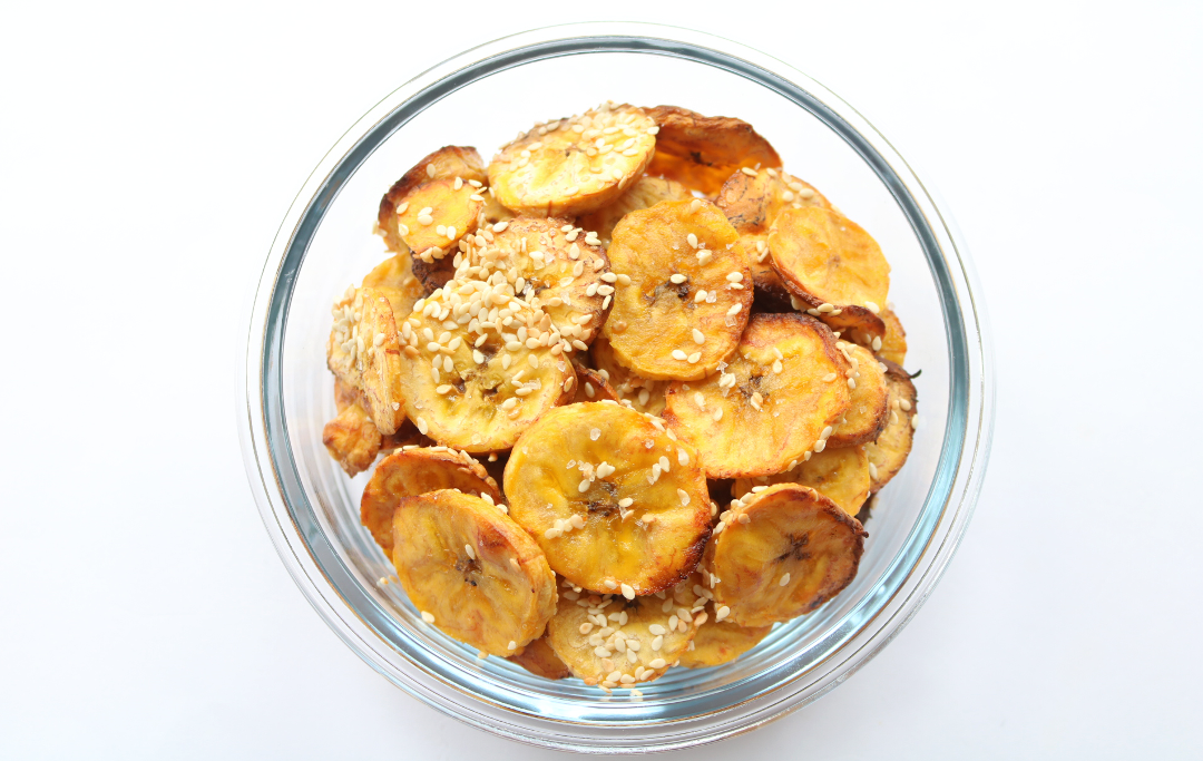 Plantain Chips (Vegan / Dairy-Free recipe) #HealthySnacks