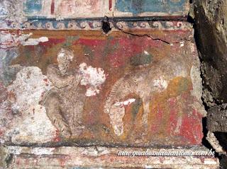 guia De Roma afrescos pomponius hylas mito ocno - O Colombário de Pomponius Hylas