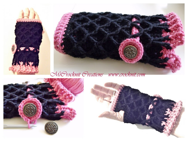 how to crochet, crochet patterns, fingerless mittens, crochet for women,