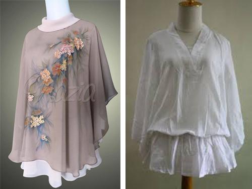 model baju atasan bahan sifon model baju atasan batik model