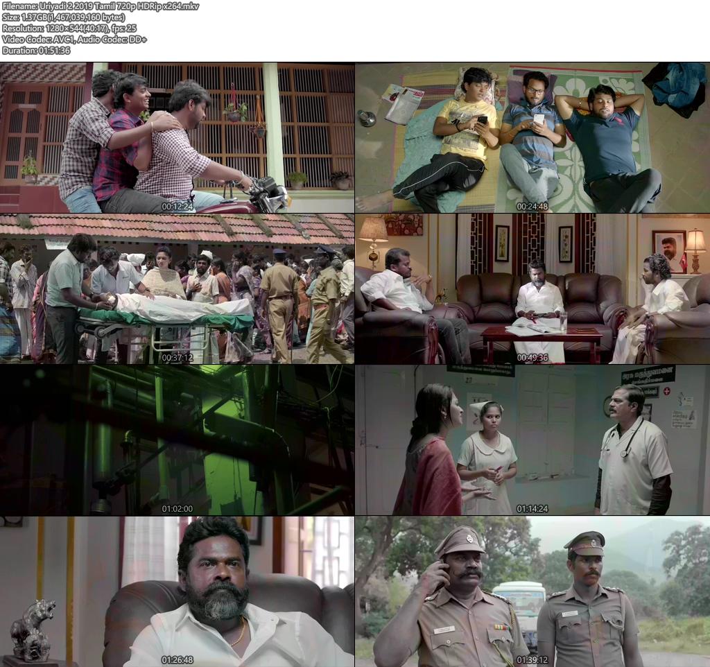 Uriyadi 2 2019 Tamil 720p HDRip x264 | 480p | 300MB | 100MB HEVC Screenshot