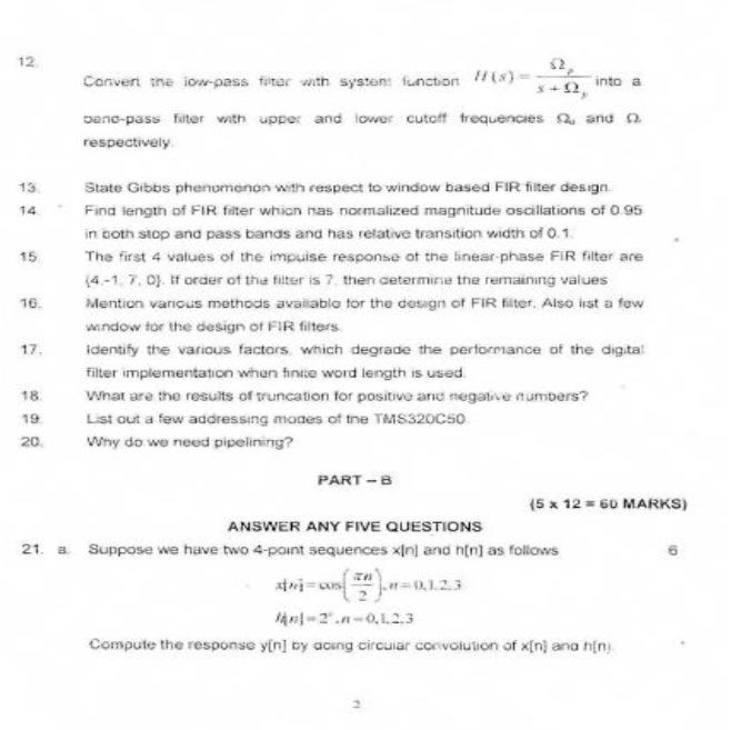EC2302 Digital Signal Processing May June 2010 Past Exam