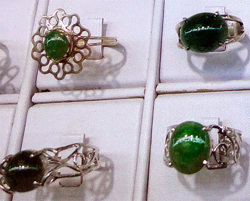 jade rings with new style setting