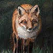 Original Fox painting on eBay, Nibblefest art contest ends Tuesday night!
