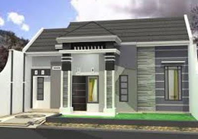 model rumah sederhana di pedesaan