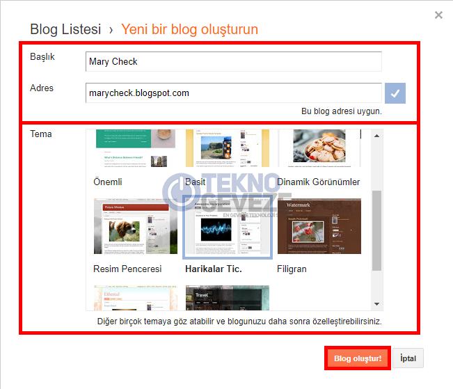 Blogger İlk Site Ayarları Nasıl Yapılır ?