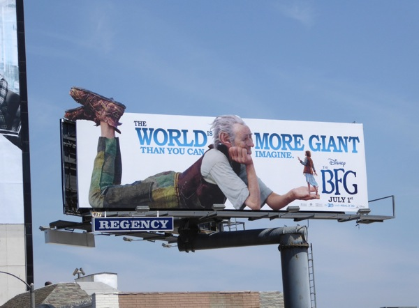 Disney BFG movie billboard