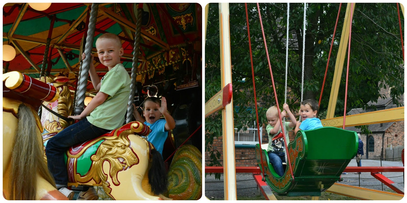 Blists Hill Victorian Town Carousel and Boat Swings
