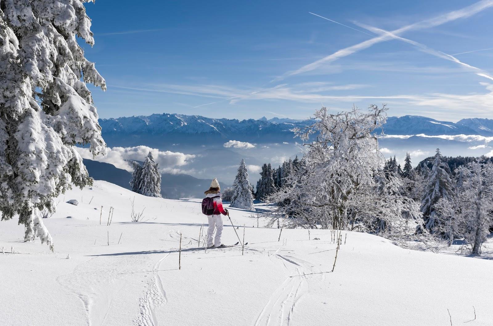 Vercors hiver ski randonnée alpin France