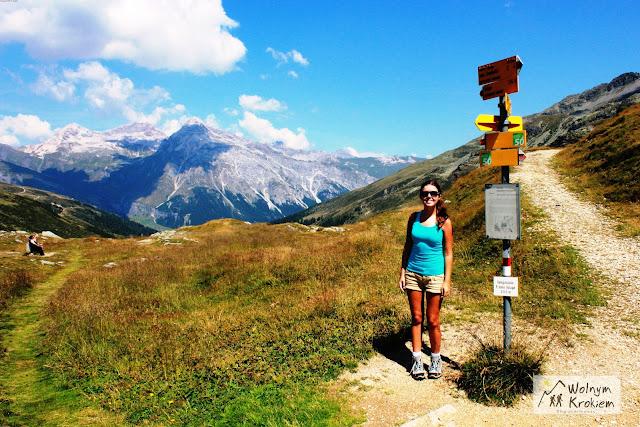 Przełęcz Włosko-Szwajcarska w Alpach