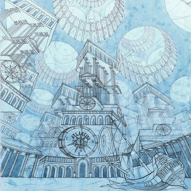 01-The-Sunken-City-of-Atlantis-Milyausha-Garaeva-Impressive-Detailed-Architectural-Drawings-www-designstack-co