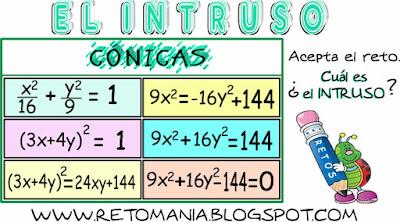Intruso, El Intruso, Descubre el Intruso, Retos matemáticos, Desafíos matemáticos, Problemas matemáticos, Problemas de lógica