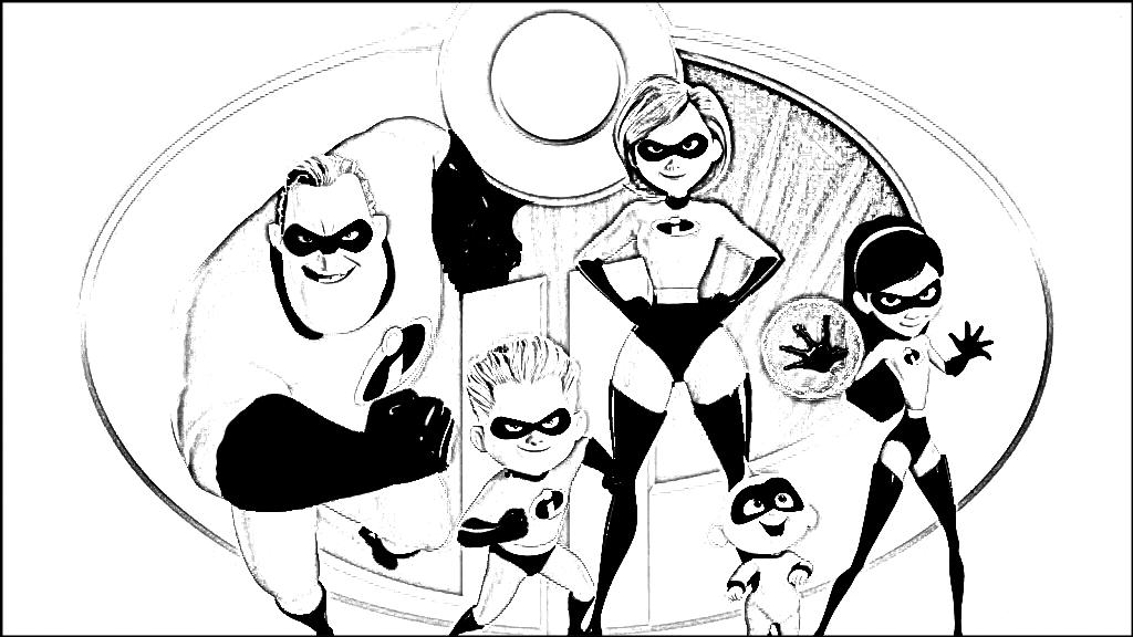 Gli Incredibili 2 Da Colorare The Incredibles 2 To Colour