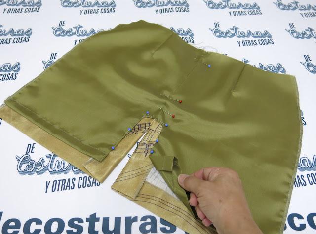 como coser el forro a una falda
