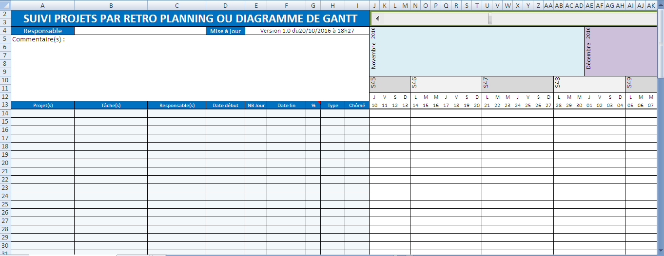 aaaa - l'application  planning de gant gratuit