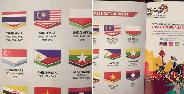 Duh, Bendera Indonesia Terbalik di SEA Games ke-29 di Malaysia