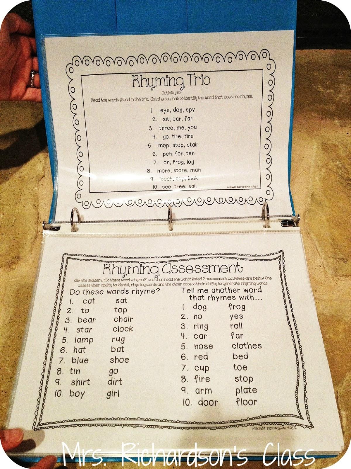 Mrs Richardson S Class Rti Phonemic Awareness