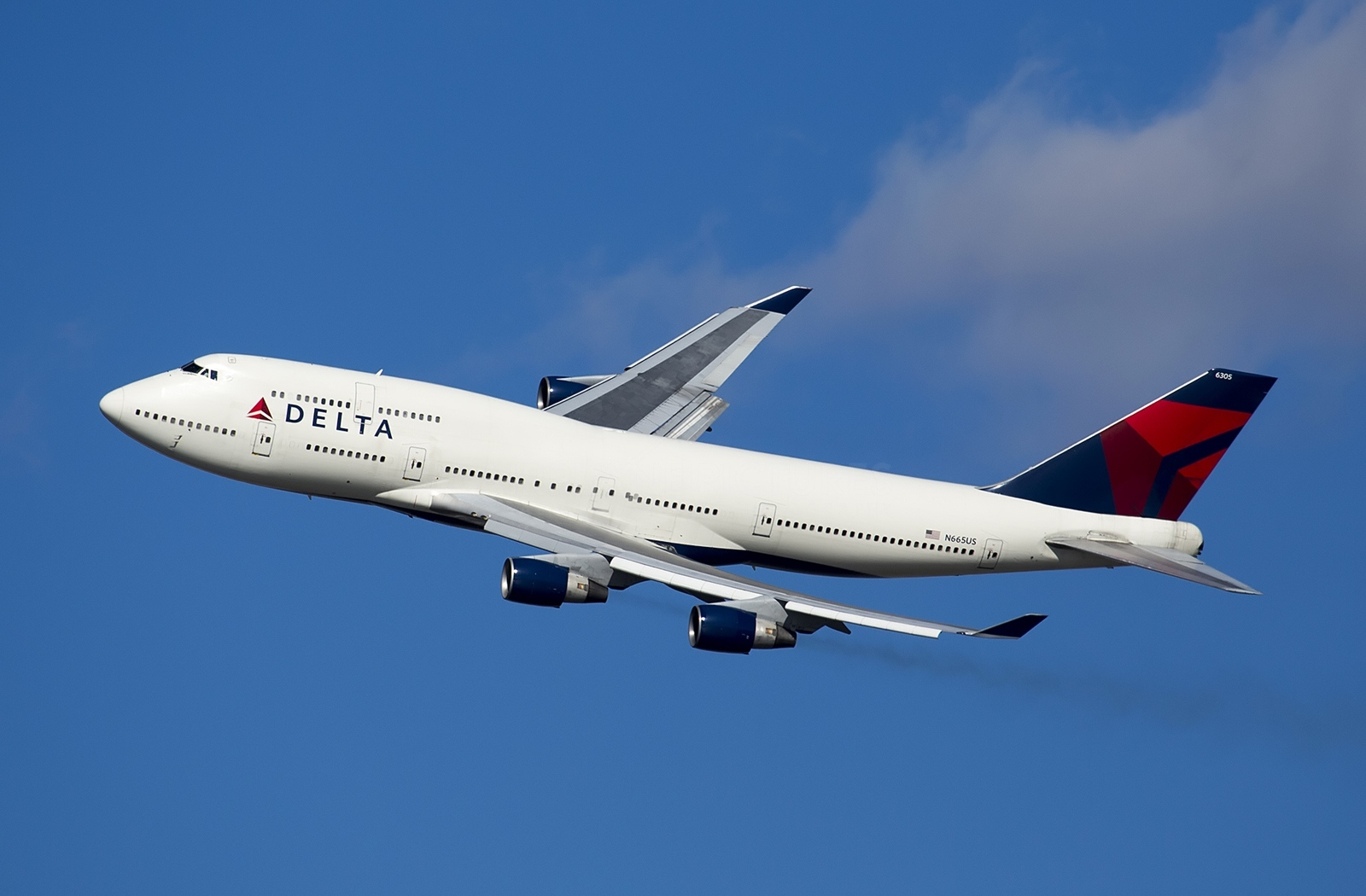 Boeing 747 400 Of Delta Airlines Inflight Aircraft