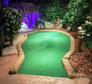 Treetop Adventure Golf course at The Printworks in Manchester