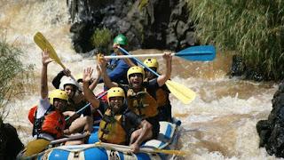 Water rafting expeditions in Kenya along Athi River, Sagana, Mathioya